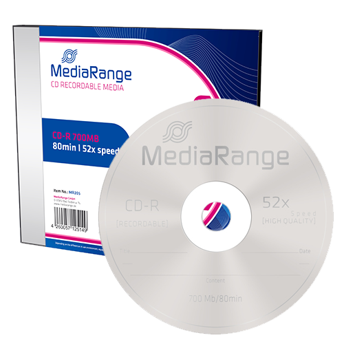 CD-R  MediaRange 700MB  10pcs Slimcase 52x
