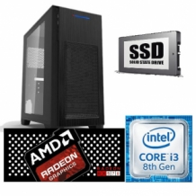 Game PC  Intel HERO Core i3 8100, 8GB, RX 570 4GB